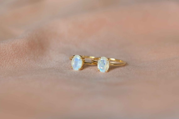 Moonstone Ring,Gold Vermeil or Sterling Silver 925,Adjustable,Statement ring,Gemstone ring,Handmade ring,Gift for Her,June Birthstone BJR036