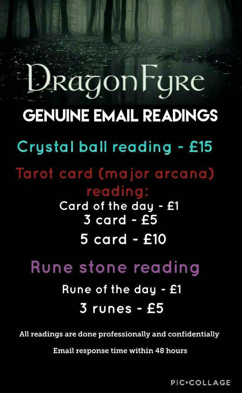Crystal Ball, Tarot Card and Rune Stone Readings