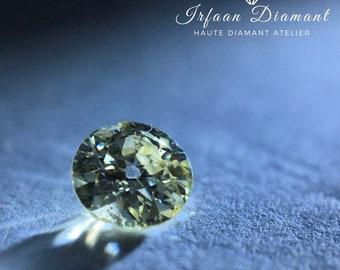 0.15 Ct Fancy Light Yellow I1 Old Euro Cut Diamond
