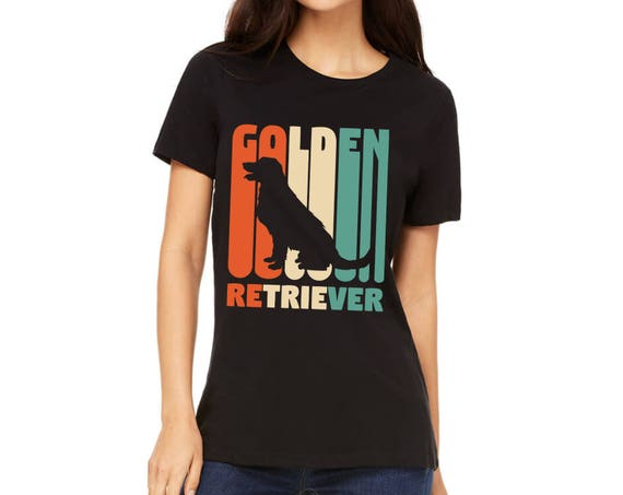Women S Shirt Vintage Golden Retriever T Shirt Golden Etsy