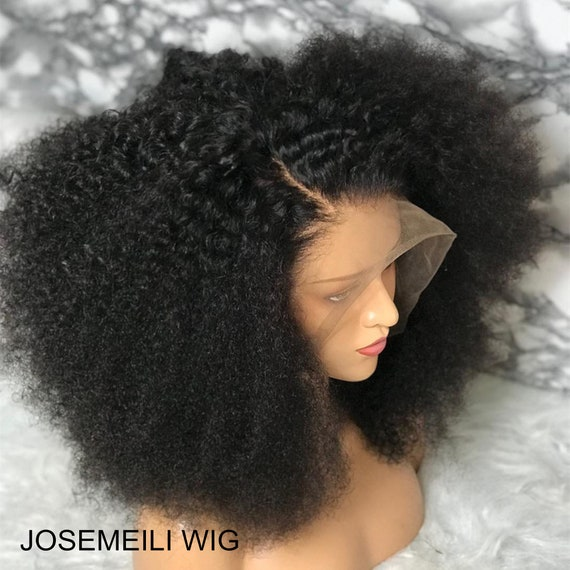 Mongolian Afro Kinky Curly hair wigs unprocessed