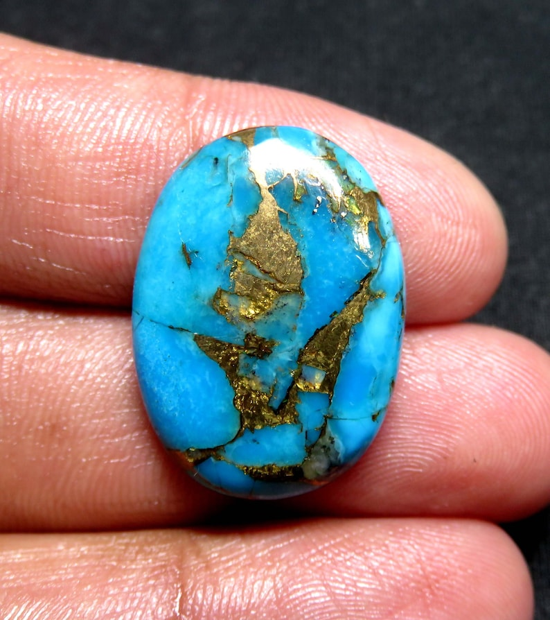 Very Rare Copper Turquoise Gemstone Designer Cabochon JJ1677. 18.19Cts 100/% Natural Copper Turquoise AAA+++ Top Quality Size 24X18X5MM