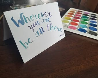 10 pack Watercolor Quote Greeting Card