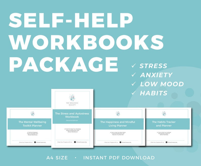 Self-Help Books (Commercial License) | Coaching Worksheet | Mental Health  Workbook | Coaching Template | Therapy Planner Printable
