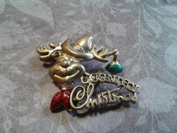 "Danecraft ""Country Christmas"" Reindeer with a Red"