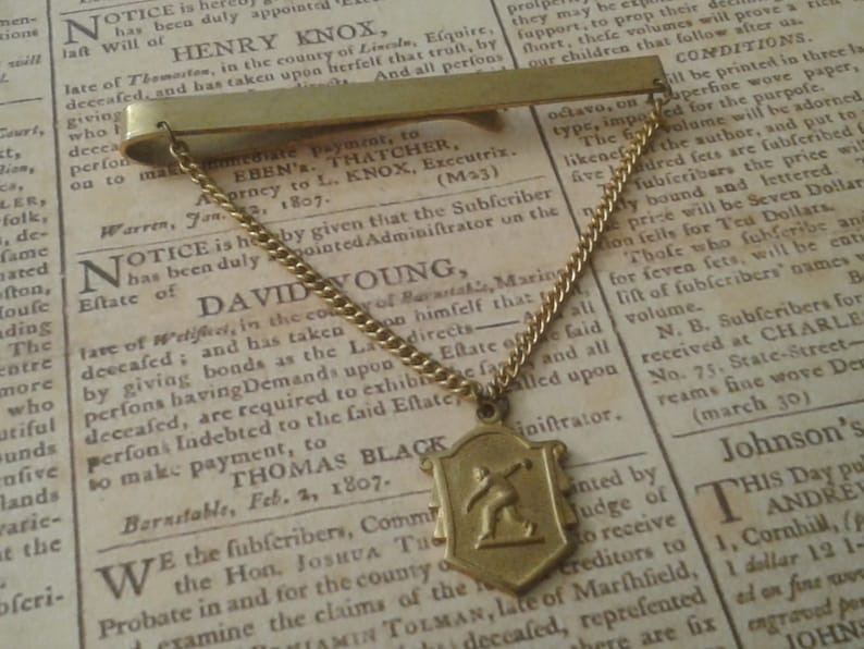 Vintage Bowling Avard Tie Clip Marked PARD 55-56 3-200/'s
