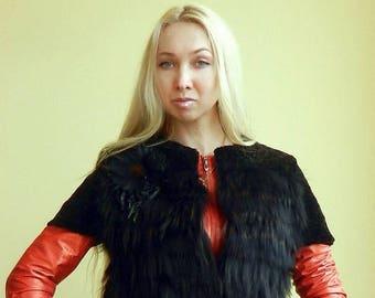 Vest from natural fur