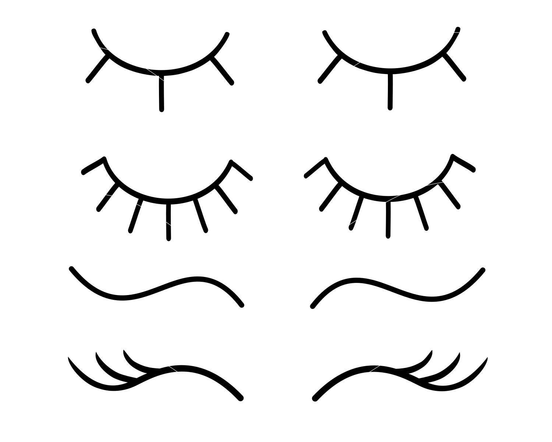 eyelashes svg unicorn eyelashes svg eye lashes svg lashes svg etsy