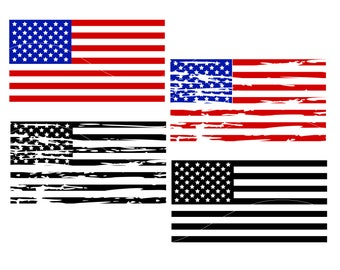 American flag distressed svg 4th of july svg Fourth of July Svg American flag svg USA flag cut file Cricut Explore Silhouette Cameo dxf svg