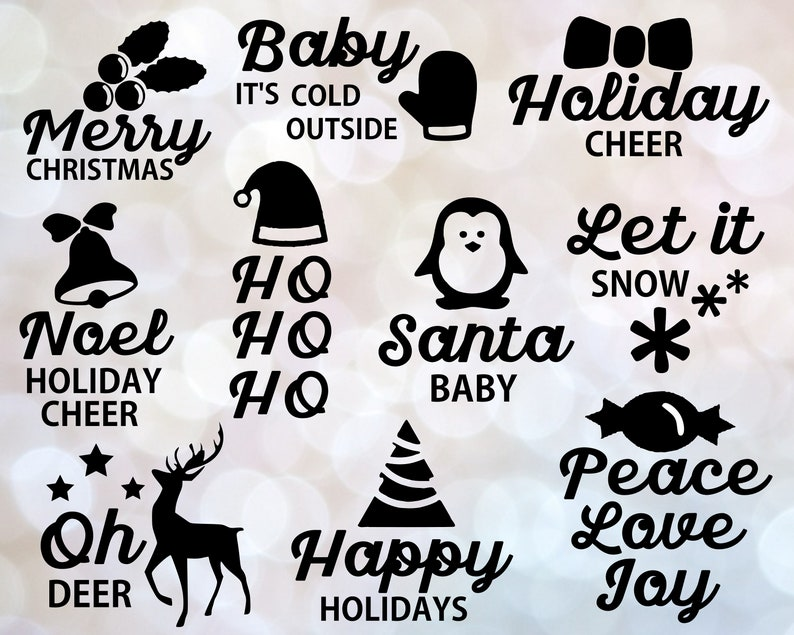 Christmas Quotes Svg.Christmas Sayings Svg Christmas Svg Christmas Quotes Svg Merry Christmas Christmas Bundle For Cricut Silhouette
