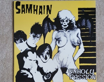 Samhain (VINYL) - Unholy Passion EP (Reissue of '85 classic/Limited to 300/Bone colored vinyl)