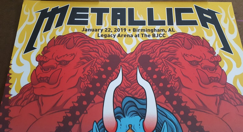 RARE Metallica Concert Poster - ONLY available w/ ViP Packages - Artist  Yoshi Yoshitani 18X24