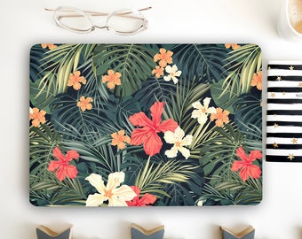 Floral Laptop Skin Tropical Leaves Notebook Vinyl Decal Dell Hp Lenovo Asus Chromebook Acer Laptop Sticker Skins Decal Cover Laptop DM172