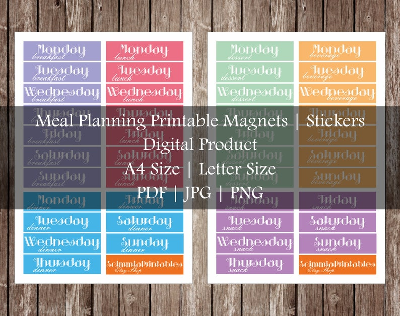 photograph relating to Printable Magnets named Dinner Creating Printable Magnets Template Weekly Supper Planner Evening meal Planner Menu Creating Menu Planner Meals Planner Refrigerator Magnets