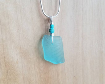 Blue Glass Turquoise Necklace