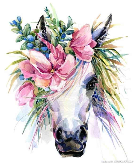 Floral Unicorn Kids Shirt