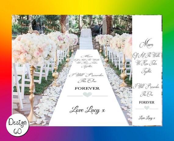 Church//Venue Carpet Decoration Personalised WEDDING AISLE RUNNER 20ft 60ft