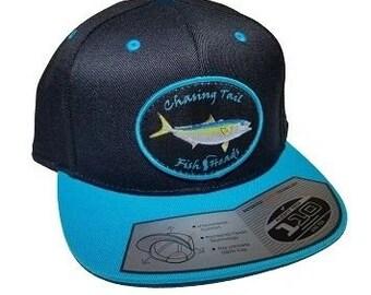 523c7ddee4268 FishHeads Yellowtail Flexfit Flatbill Snapback