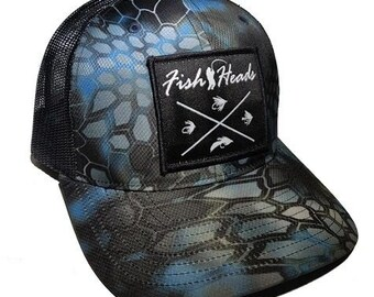 f9af9dae6a52b FishHeads X Fly Fishing Richardson Kryptek Snapback Trucker Hat