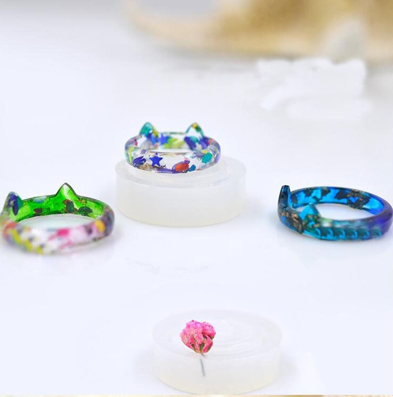 Round head cat Resin Mold for Silicone Ring Mold, epoxy resin mold for  jewelry