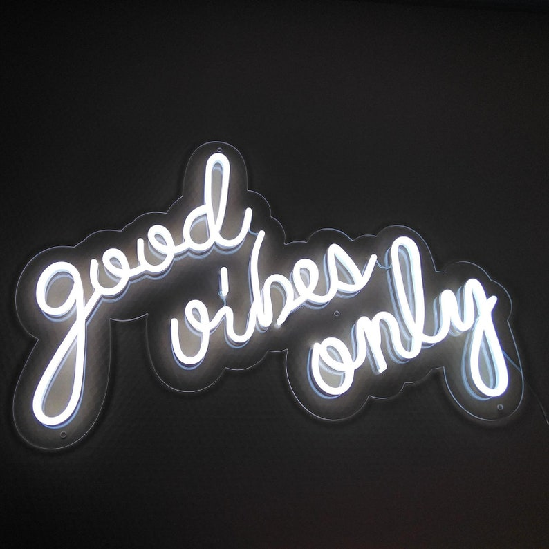 be9aabc8b9b0d Good vibes only Small Neon LED Sign Light Home Decor Office Custom