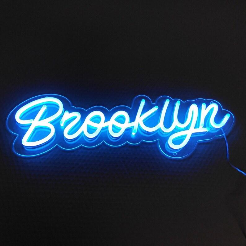 Audacieuse Brooklyn Neon LED Sign Light Home Decor Office Custom USA | Etsy VQ-06