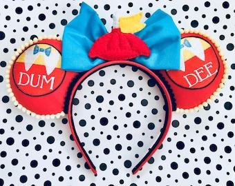 Handmade Mouse Ears Headband - Wonderland Twins Inspired