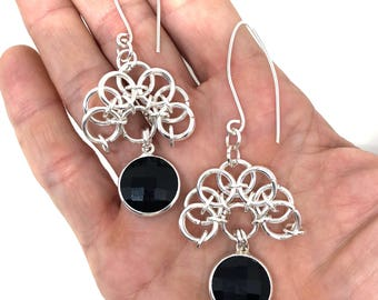 Chainmaille Pendant Earrings