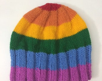 009a58f0085 Rainbow beanie adult VEGAN