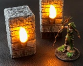 Flickering Torch Pillar for Dungeons and Dragons D&D