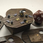 Table with Flickering Lantern, swappable table tops for Dungeons and Dragons D&D