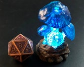 Glowing giant mushroom miniatures for Dungeons and Dragons D&D