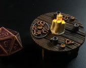 Pretzel Table with Flickering LED light candle - Dungeons and Dragons D&D