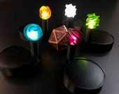 Drift globe marker with pulsing LED light for Dungeons and Dragons D&D