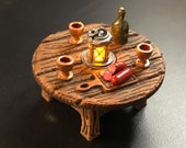 Sausage Table with Flickering LED light lantern - Dungeons and Dragons D&D
