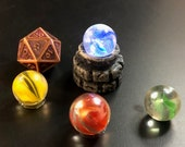 Glowing Palantir / Plinth with interchangeable marbles for Dungeons and Dragons D&D