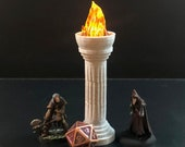 Modular Greek Pillar (doric style) with flickering flame for D&D Dungeons and Dragons