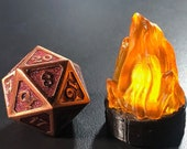 Flickering LED Fire Marker for Dungeons and Dragons D&D