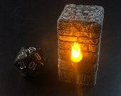 "Flickering Torch Pillar ""Style A"" for Dungeons and Dragons D&D"
