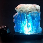 Wall of Ice with glowing LED lights, RESIN, for Dungeons and Dragons D&D