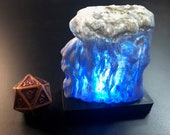 Wall of Ice with glowing LED, for Dungeons and Dragons D&D Icewind Dale