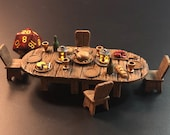 Tavern / Inn Feast Table with Flickering LED lanterns for Dungeons and Dragons D&D