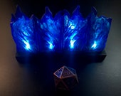 Modular Wall of Blue Flame with flickering LED lights for Dungeons and Dragons D&D