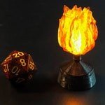 Flaming Sphere with Flickering LED for Dungeons and Dragons D&D