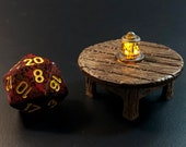 Round Table with Flickering LED lantern - Dungeons and Dragons D&D