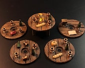 Tavern / Inn Table Set with Swappable Tops for Dungeons and Dragons D&D