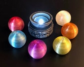 Swappable Chromatic Glowing Orb on Stone Pedestal for Dungeons and Dragons D&D