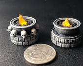 Tiny 28mm brazier with Flickering LED flame for Dungeons and Dragons D&D