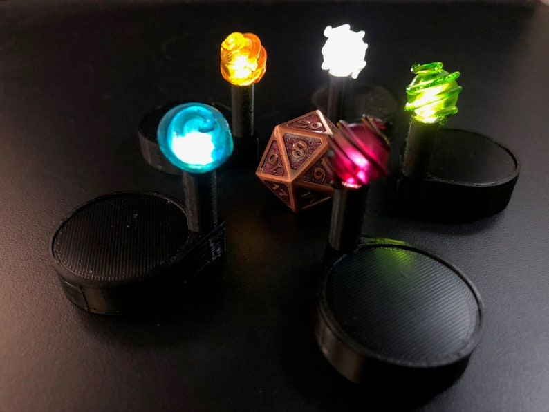 Drift globe marker with pulsing LED light for Dungeons and image 0