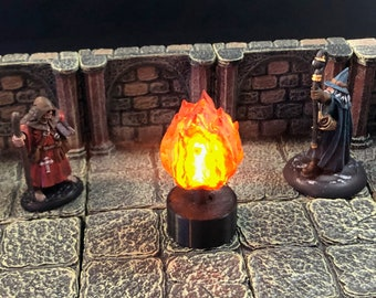 Flaming Sphere with Flickering LED light for Dungeons and Dragons D&D